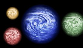 4 planets Stock Photo