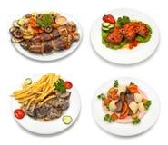 4 platos - 2 fotografía de archivo
