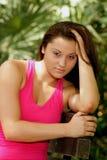 4 plenerowy brunetki piękny headshot Obrazy Royalty Free