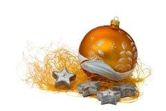 4 pomarańczowy ornamentu świece. Zdjęcia Stock