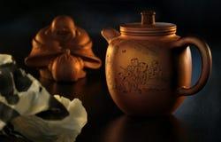4 postawił orientalna herbaty. obraz stock