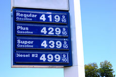 $4 preços de gás imagem de stock royalty free
