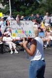 4 protestujący zdjęcie stock
