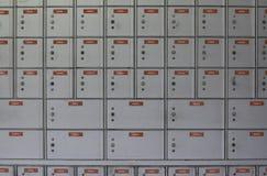 4 pudełek szara pocztę Obrazy Stock