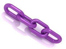4 purple plastic link chain Stock Photography