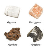 4 raw minerals Royalty Free Stock Photo
