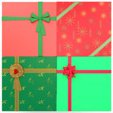4 regali di Natale Fotografia Stock Libera da Diritti
