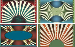 4 Retro Vector Design Web Background Collection Royalty Free Stock Photos