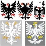 4 örnar heraldisk vol Arkivbild