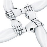 4 Robot hands Stock Image