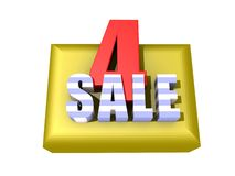 4 Sale sign Royalty Free Stock Photography