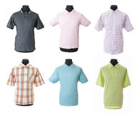 4 samling isolerad male skjorta t Royaltyfri Foto