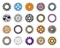 4 samlingskugghjul stock illustrationer