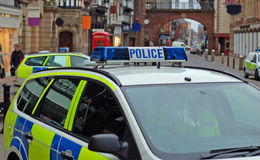 4 samochodów na policję obraz royalty free