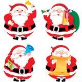 4 Santa Claus в различном illustratio позиций иллюстрация штока