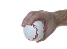 4-Seam Fastball Grip. Illustrates how to hold a baseball to throw a 4-seam fastball Royalty Free Stock Photos