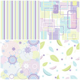 4 seamless patterns Royalty Free Stock Photos