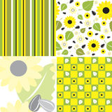 4 seamless patterns Stock Photography