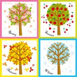 4 seasons. Illustration of four Seasons: spring, summer, autumn, winter Stock Photo