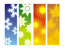 4 Seasons. Graphical Representation of different seasons of the year Stock Images