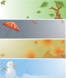 4 seasons banner Stock Photos