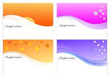 4 seasons  graphic layout Royalty Free Stock Photo