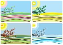 4 seizoenen Stock Illustratie