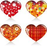 4 serca Obrazy Royalty Free