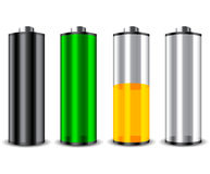 4 set battery Stock Image