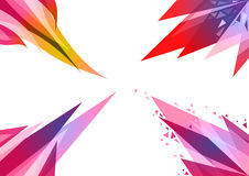 4 sets abstract geometric background. 4 sets of abstract geometric background. Colored intersecting triangles, stylized flame of fire. EPS10 Stock Photo