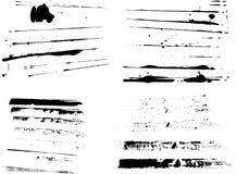 4 Sets Grunge Streifen lizenzfreie abbildung