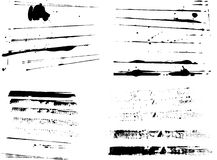 4 Sets of Grunge Stripes. 4 Sets of grunge strips (Isolated Vectors and on seperate layers)  Background is transparent so they can be overlayed on other Royalty Free Stock Image