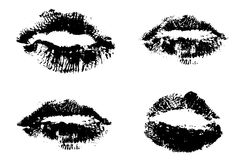 4 sets of Lips. Very Detailed Royalty Free Stock Photo