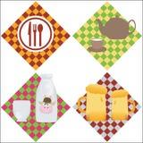 4 sets menu. Food, drinks royalty free illustration
