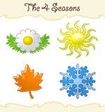 4 sezonu royalty ilustracja