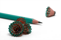 4 shavings карандаша Стоковое Изображение RF