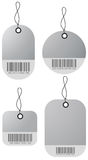4 shopping price tags Royalty Free Stock Images