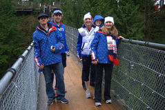 4 skidar team oss Arkivfoton