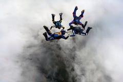 4 skydivers Стоковая Фотография