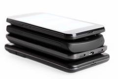 4 smartphones Стоковые Изображения