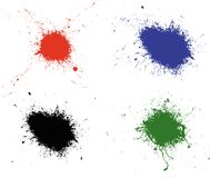 4 splats Obraz Royalty Free