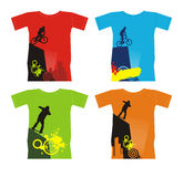 4 sports extrêmes t de chemises Photographie stock