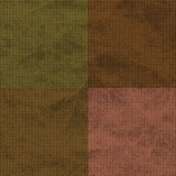 4 square orange olive brown textures. Textured pattern for background or scrapbook pages Royalty Free Stock Photos