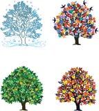 4 stagioni illustrazione vettoriale