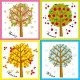 4 stagioni illustrazione di stock
