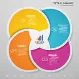 4 steps simple&editable process chart infographics element. stock images