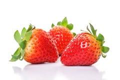 4 strawberrys 库存图片