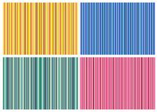 4 Stripped Backgrounds Royalty Free Stock Images