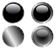 4 Studded Black Web Buttons Royalty Free Stock Photography