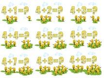 4 sumujący cdr uczenie matematyki wektor Obraz Royalty Free